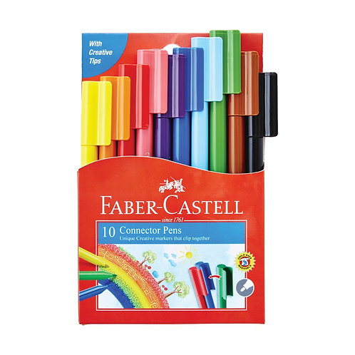 Faber Castell Connector Pens - Pack of 10