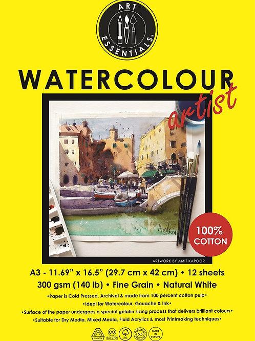 Art Essentials Watercolour Artist Pad - A3