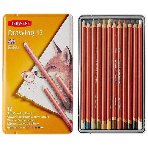 Derwent Drawing Tin - Set of 24