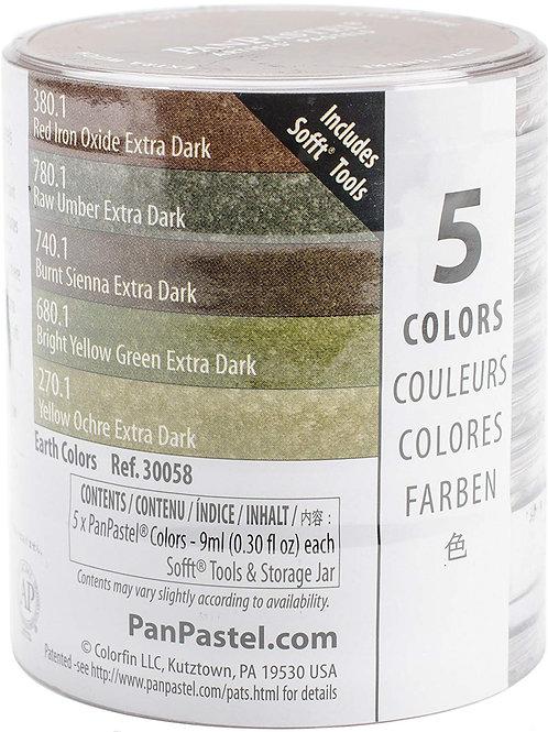 Pan Pastel 5 Colour Set - Extra Dark Earth Colours Set (Code:30058)