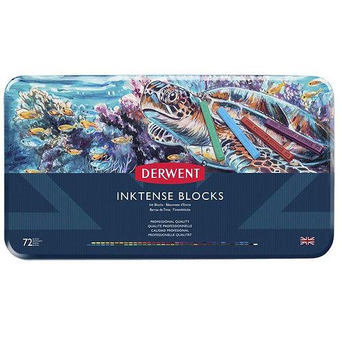 Derwent Inktense Watersoluble Ink Blocks Tin - Set of 72