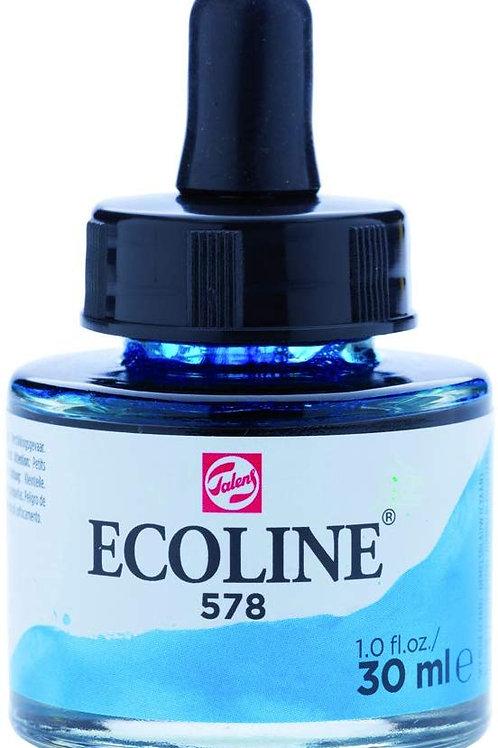 Royal Talens Ecoline Liquid Watercolour Ink 30ml - Blue Cyan