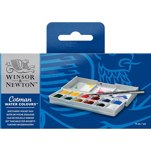 Winsor & Newton Cotman Water Colours Mini Plus - 8 Half Pans