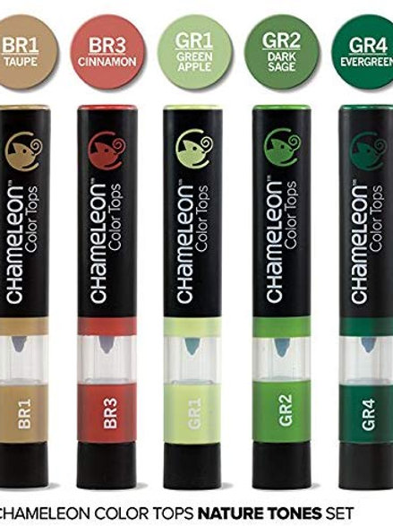Chameleon 5 Colour Tops Nature Tones Set