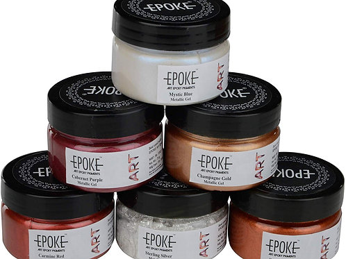 Epoke Art Epoxy Pigments Metallic Kit - Combo of 6