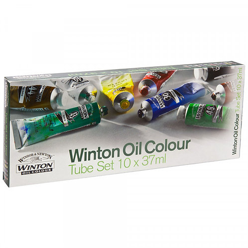 Winsor & Newton - Winton Oil Colour Set 37ml Tubes in 10 Colors