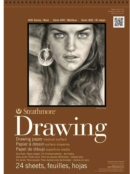 Strathmore 400 Series Drawing 6'' X 8'' Grain 130 GSM Pad of24 Sheets