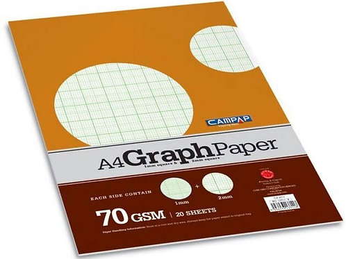 Campap Graph Paper 70GSM - Pack of 2