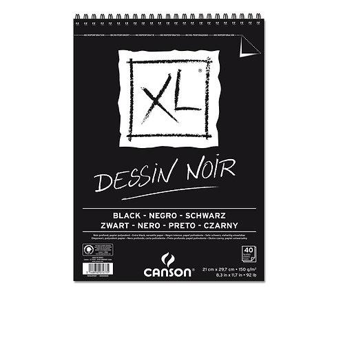 Canson XL Dessin Noir Black Pad - 29.7 x 42 cm