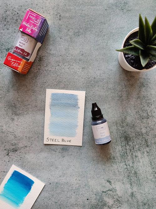 Beyond Inks Watercolor Ink 20ml - Steel Blue