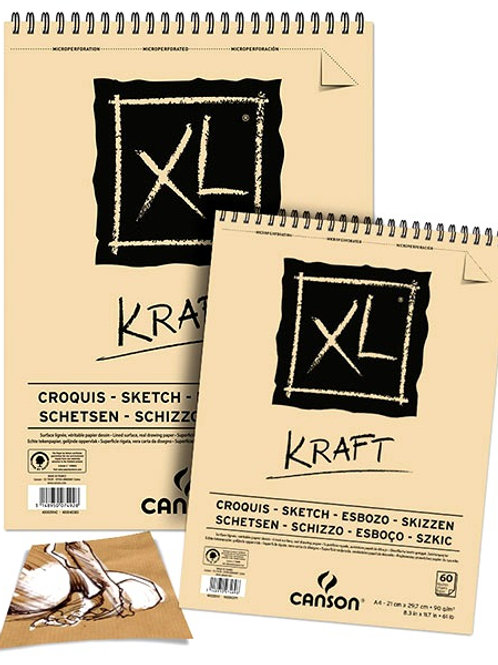 Canson XL Kraft Sketch Pad 90gsm - 60 Sheets