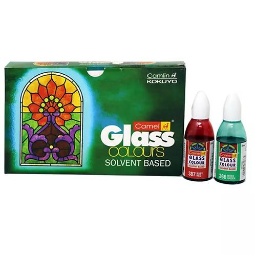 Camlin Kokuyo Solvent Based Glass Color - 5 Shades x 20ml