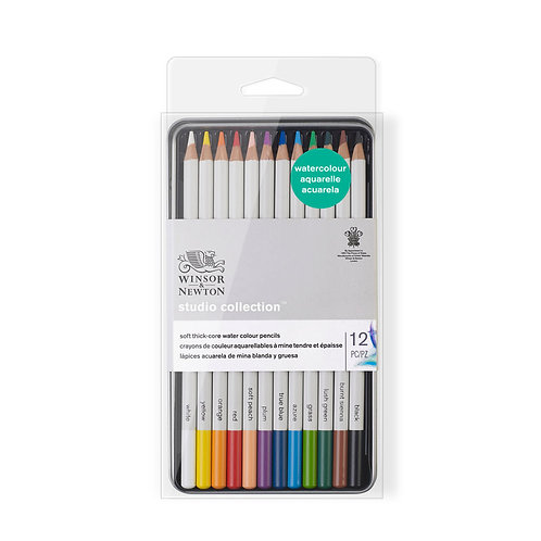 Winsor & Newton Studio Collection Watercolour Pencil - Set of 12
