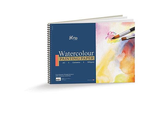 Arto Watercolour Painting Paper A3 - 12 Sheets
