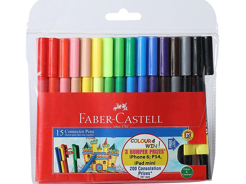 Faber Castell Connector Pens - Pack of 15