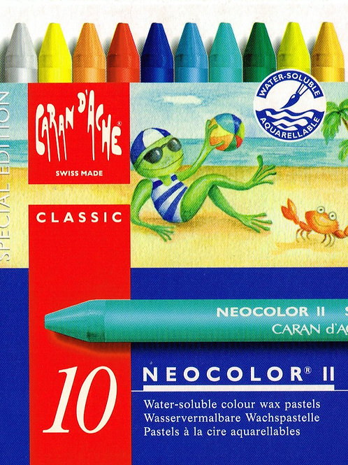 Caran Dache Classic Neocolor II Summer Shades - Pack of 10