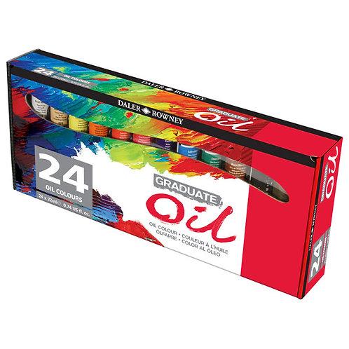 Daler Rowney Graduate Oil Colours - Set of 24x22ml
