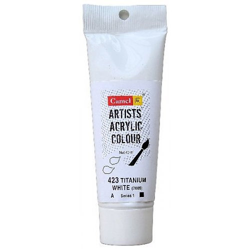 Camlin Kokuyo Artist Acrylic 40ml - Titanium White