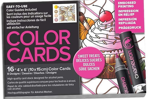 Chameleon Colour Cards Raised Print ‐ Sweet Treats