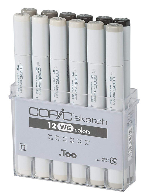 Copic Classic Colour Warm Grey - Set of 12