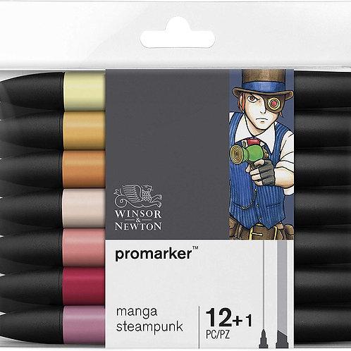Winsor & Newton ProMarker Manga Steampunk - Set of 12