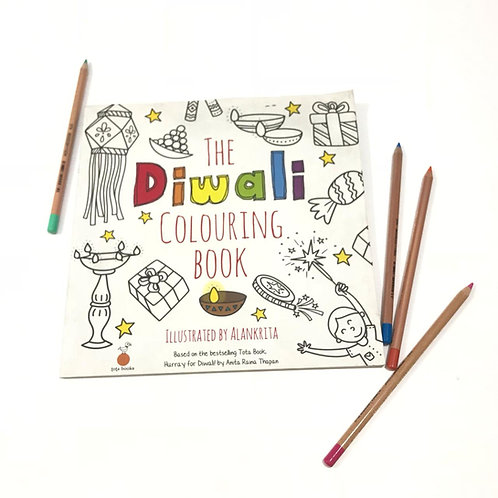 Diwali Colouring Book - Illustrated by Alankrita