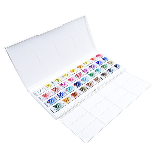 White Nights Artists' watercolours pans - Set of 36