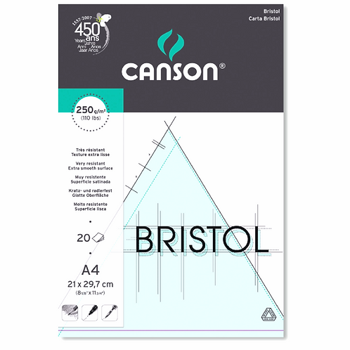 Canson Bristol Board - 250gsm - 20 sheets in a Pad