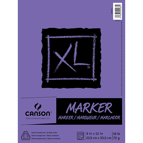 Canson XL Series Marker Paper Pad 100 sheets - A4 and A3