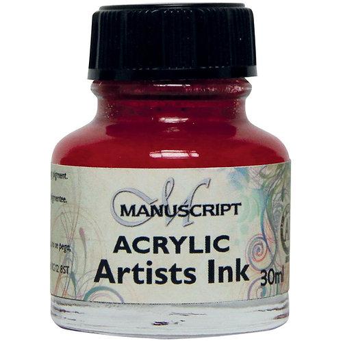 Manuscript MDP048 Acrylic Artists Ink - 30ml - Process Magenta