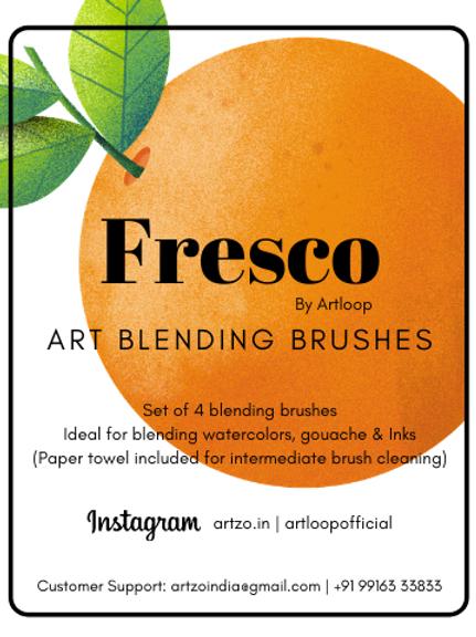 Fresco Art Blending Brushes by Artloop - Set of 4