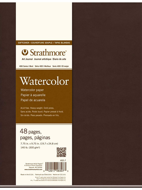 """Strathmore 400 SeriesSoftcover Watercolor Art Journal - 7.75"""" x 9.75"""""""