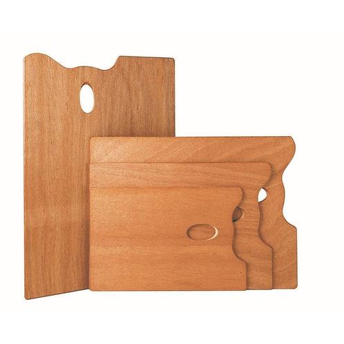 "Mabef Rectangular Wooden Palette - 35cm x 45cm or 14"" x 18"""