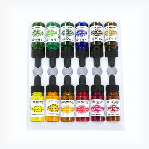 Dr. Ph. Martin Spectralite Private Collection Liquid Acrylics 15mlx12 - Set 2