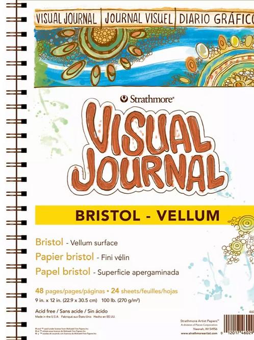 "Strathmore 300 Series Visual Journal Bristol Vellum - 9""x12"" 270 GSM - 24 Sheet"