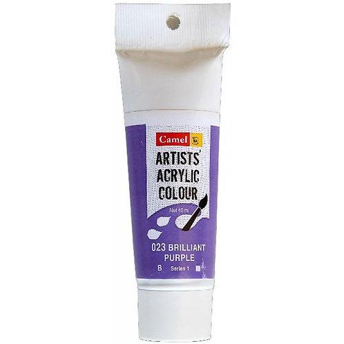 Camlin Kokuyo Artist Acrylic 40ml - Brilliant Purple