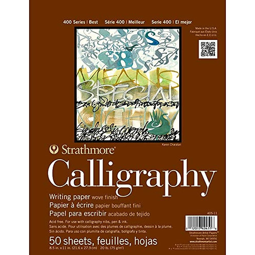 """Strathmore 400 Series Calligraphy Pad 8"""" x 11 """" - 50 Sheets"""