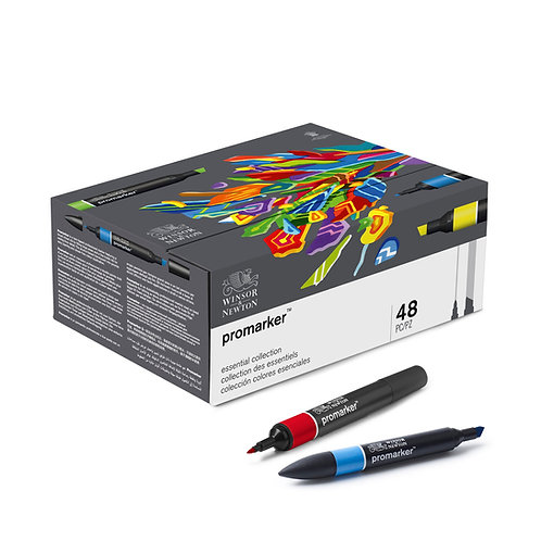 Winsor & Newton ProMarker Essential Collection - Set of 48