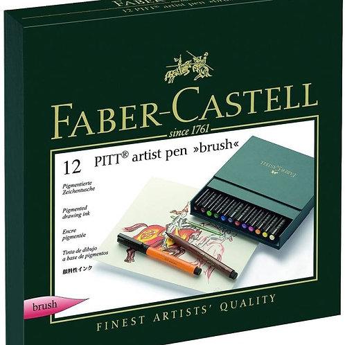 Faber Castell Artist Set Super Fine Nib Sketch Pens - Set of