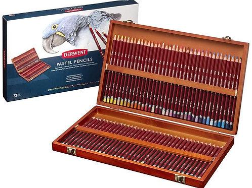 Derwent Pastel Pencil Wooden Box - Set of 72