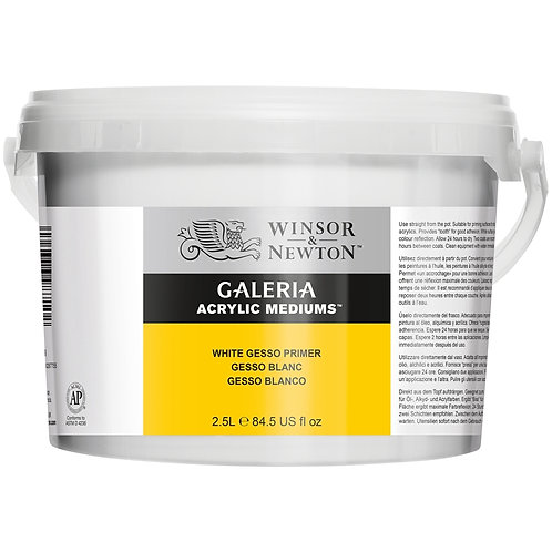 Winsor & Newton Galeria Acrylic White Gesso Primer - 2500ml