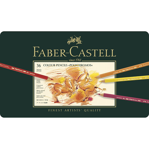 Faber Castell Polychromos Artists' Colour Pencils - Tin of 36
