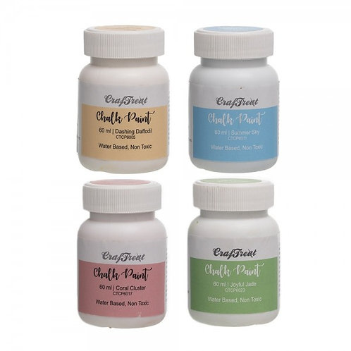 Craftreat Chalk Paint Tropical Set 1 -  60ml x 4 colours