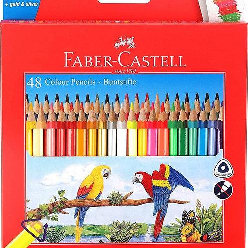 Faber Castell Buntstifte Triangular Shaped Colour Pencils - Set of 48