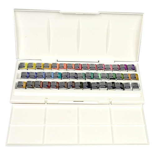 Cotman Water Colours Half Pan Studio Set - 45 Half Pans