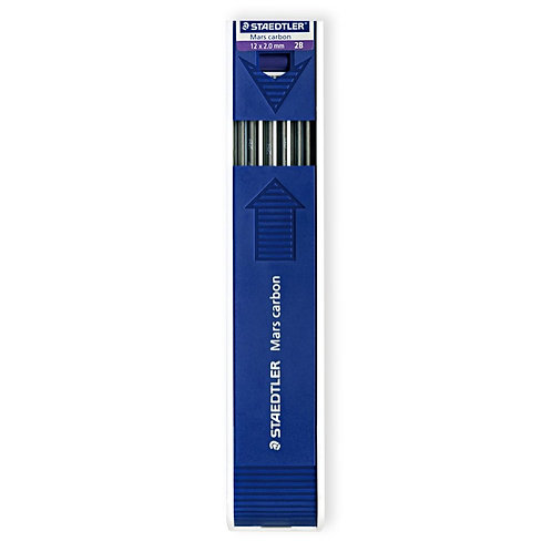 Staedtler Mars Carbon 2mm 2B Leads - Pack of 12