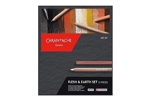 Caran Dache Artist Art by Flesh and Earth - Set of 15