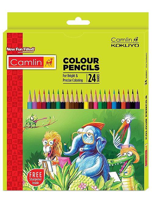 Camlin Kokuyo Full Size Colour Pencil - Set of 24 Shades