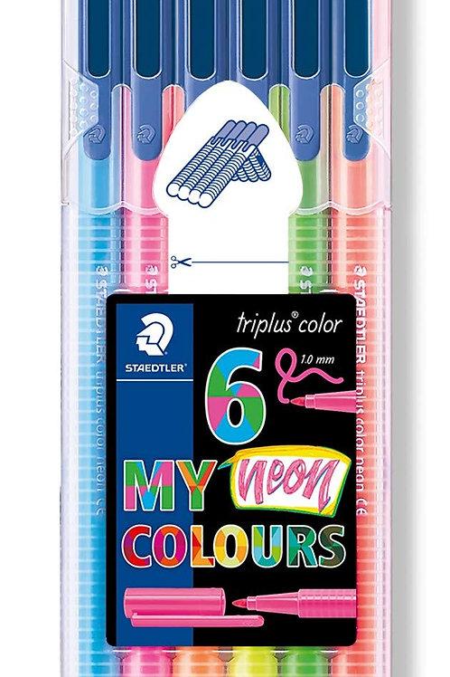 Staedtler Triplus Colour Pen Neon - Set of 6