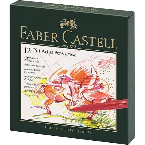 Faber Castell Pitt Artist Brush Pen Set of 12 (Studio Box)